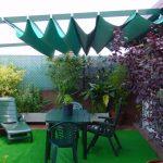 Instalar un toldo en jardín