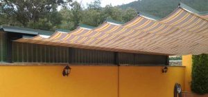 Pergola para techo acristalado
