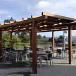 Pergola de madera terraza