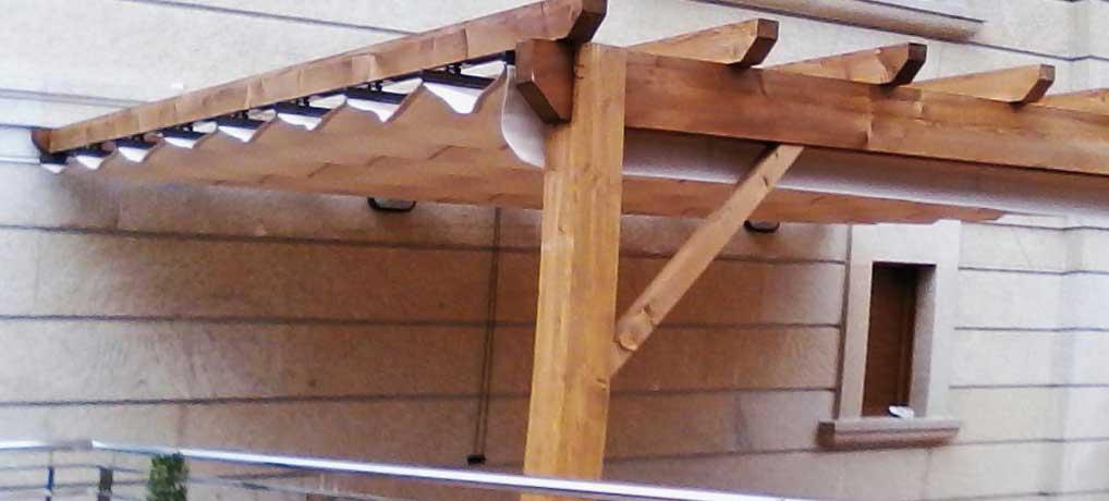 Pérgolas de madera o aluminio